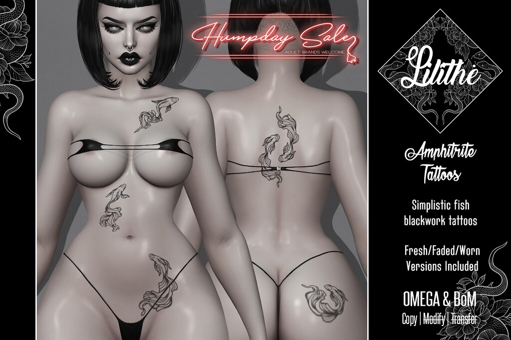 Lilithé// Amphitrite Tattoos @ Humpday Sale