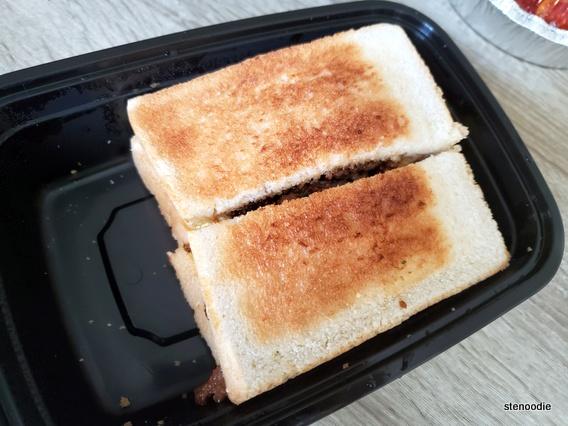Satay Beef with Eggs Sandwich