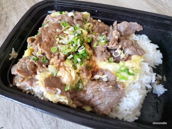 Beef & Eggs on Rice