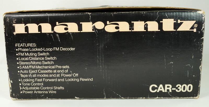 RD28745 Rare 1978 Silverface Marantz AM-FM Cassette Car Stereo CAR-300 in Original Box with Unused Faceplate DSC08546