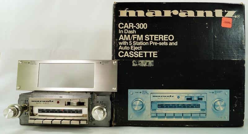 RD28745 Rare 1978 Silverface Marantz AM-FM Cassette Car Stereo CAR-300 in Original Box with Unused Faceplate DSC08531