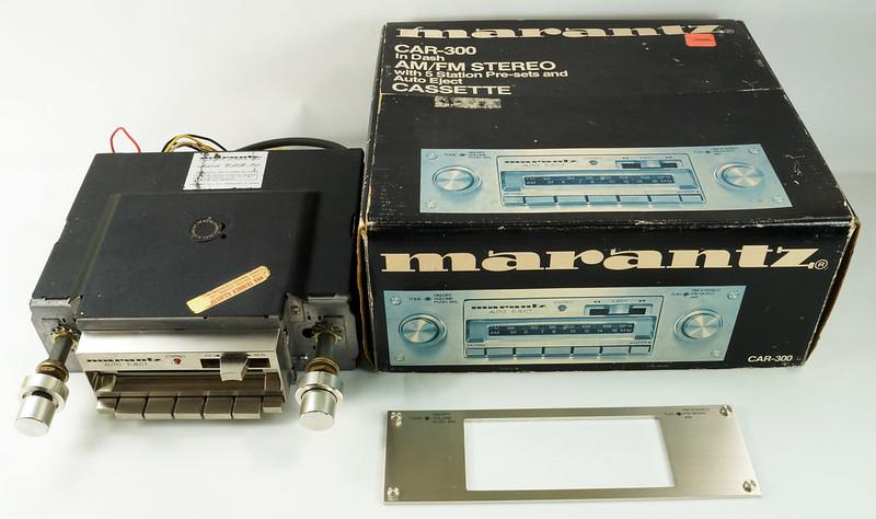 RD28745 Rare 1978 Silverface Marantz AM-FM Cassette Car Stereo CAR-300 in Original Box with Unused Faceplate DSC08527