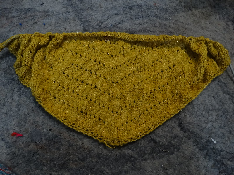 WIP: Yellow Shawl