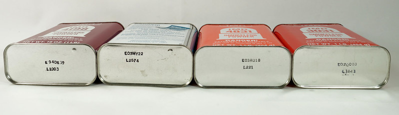 RD19989 4 Vintage IMR Smokeless Power Tins 4198, 4831, 3031, & 4064 DSC08576