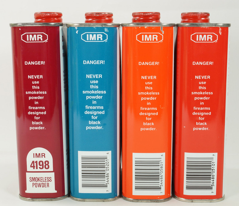 RD19989 4 Vintage IMR Smokeless Power Tins 4198, 4831, 3031, & 4064 DSC08575