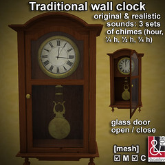 Traditional mahogany wall clock