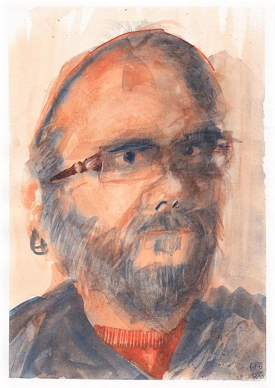 Self Portrait in Two Colours