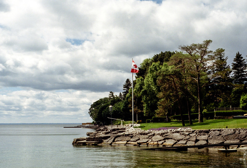 Flying the Maple Leaf On the Shore June 2020
