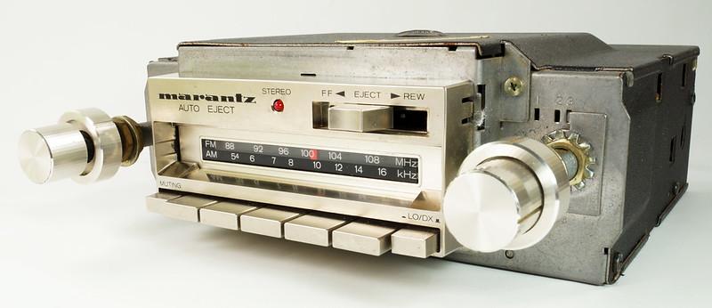 RD28745 Rare 1978 Silverface Marantz AM-FM Cassette Car Stereo CAR-300 in Original Box with Unused Faceplate DSC08533