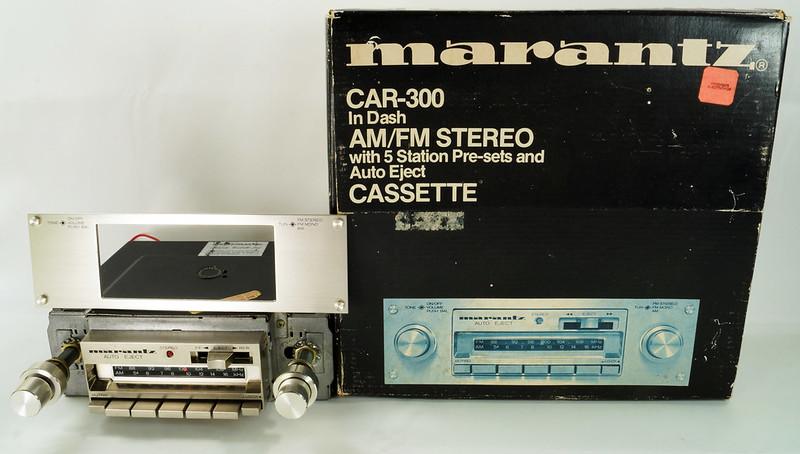 RD28745 Rare 1978 Silverface Marantz AM-FM Cassette Car Stereo CAR-300 in Original Box with Unused Faceplate DSC08530