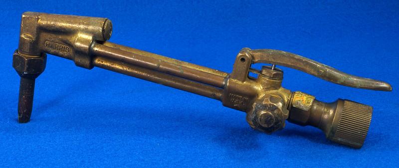 RD19453 Vintage Harris Brass 36-2 Cutting Torch Head Acetylene Oxygen Welding DSC08610