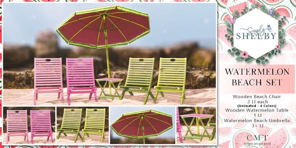 Simply Shelby Watermelon Beach Set
