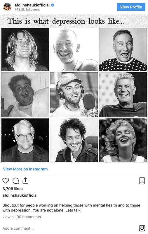 Afdlin Shauki Buka Ruang Kongsi Fasal Depresi di Instagram