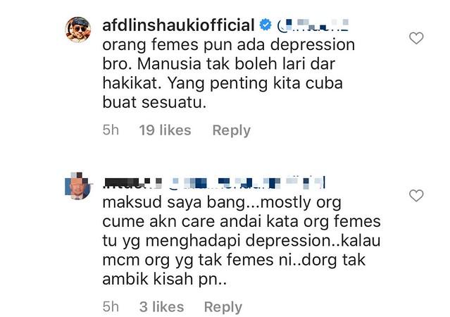 Afdlin Shauki Buka Ruang Kongsi Tentang Stress & Depresi di Instagram