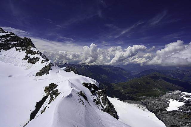 View from the Jungfraujoch Sphinx Observation Deck - Bern/Wallis - Switzerland