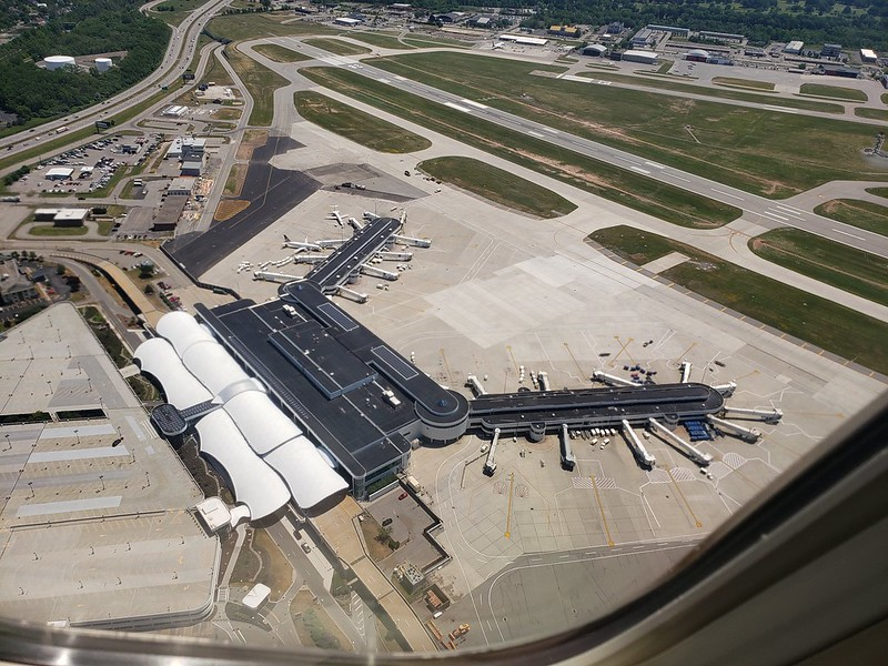 ROC Greater Rochester International Airport Terminal Aerial View 2020 6-29