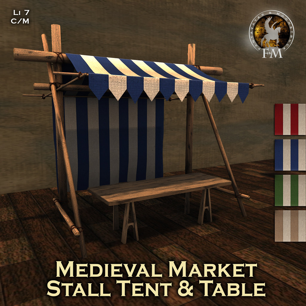 F&M * Medieval Market Tent & Table