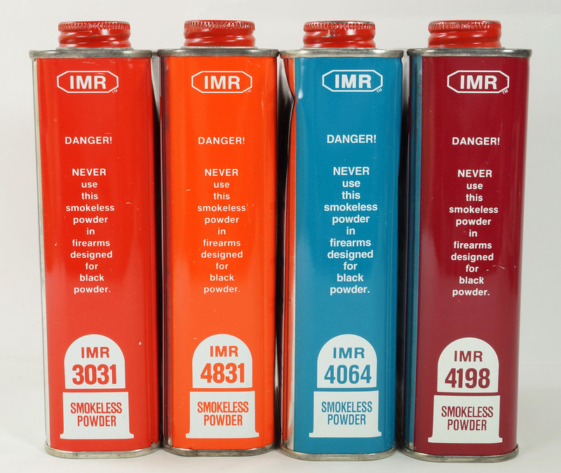 RD19989 4 Vintage IMR Smokeless Power Tins 4198, 4831, 3031, & 4064 DSC08574
