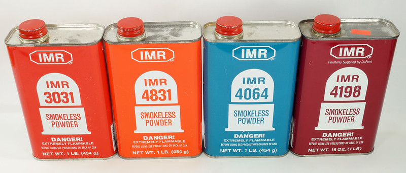 RD19989 4 Vintage IMR Smokeless Power Tins 4198, 4831, 3031, & 4064 DSC08571