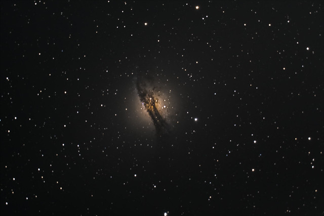 NGC 5128 or Centaurus A. Imaged from Suburbia.