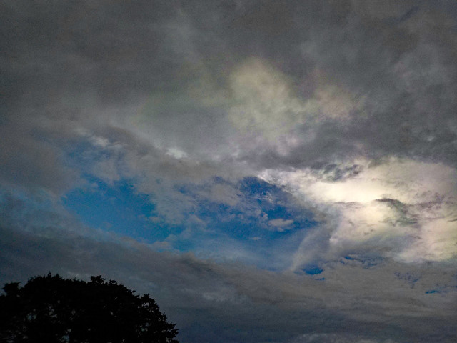 Mixture of Blue Sky And Clouds.