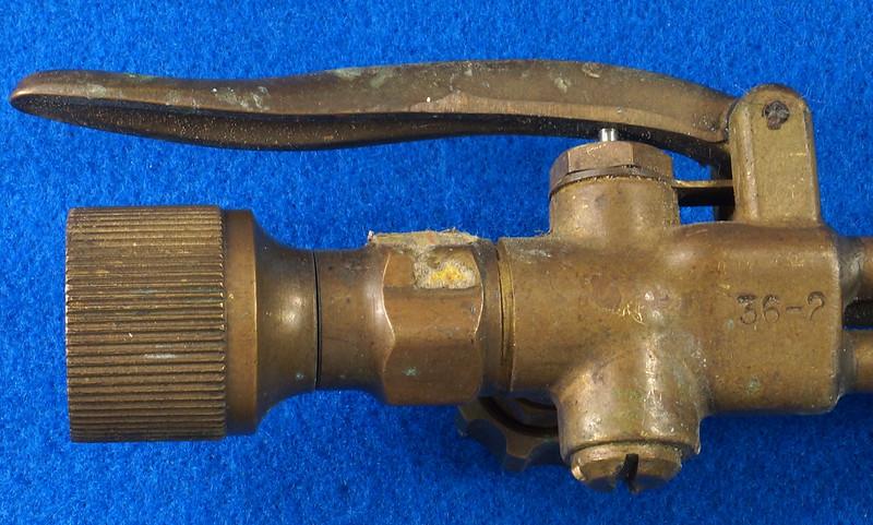 RD19453 Vintage Harris Brass 36-2 Cutting Torch Head Acetylene Oxygen Welding DSC08606