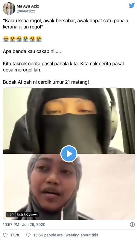 """""""Mangsa Rogol Yang Bersabar Dapat Pahala"""" - Fynn Jamal"""