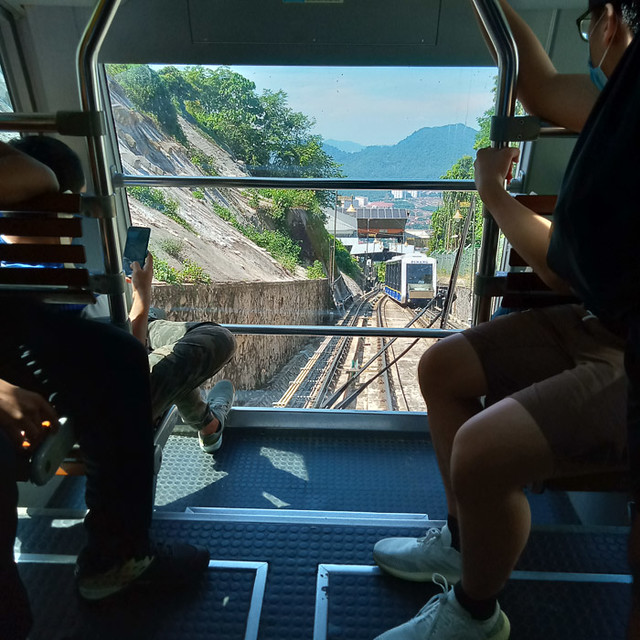 Coming down the Funicular railway