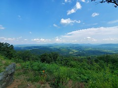 The beautiful Shenandoah National Park and the Blue Ridge Mountains! One of the best roads and views that I've ever been to! ️⛰️ Sadly, with the pandemic going on, the visitor centers are on limited time and most of the campgrounds are fully booked! But t