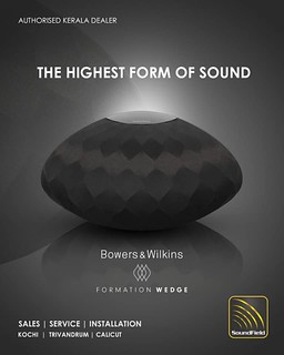 Own the awe inspirational true room filling stereo sound with Bowers and Wilkins formation wedges.