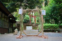 Chinowa set up for the summer purification rite 夏越の大祓