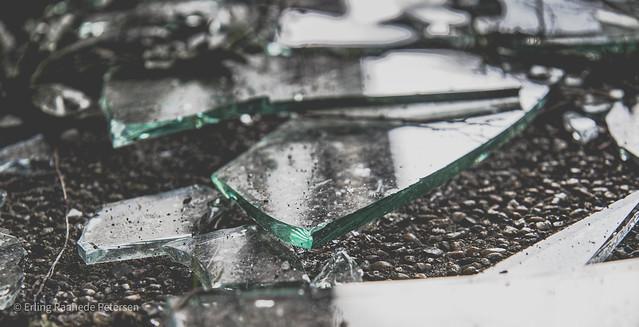 Reflections in broken glass