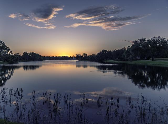 Vineyards Lake Sunset