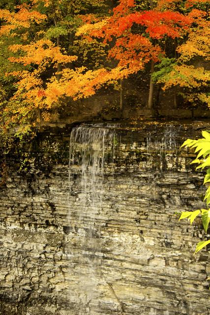 A water fall (一个小的瀑布)