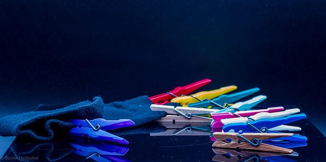 Sehr selten: Wäschklammern auf der Jagd. -- Very rare: clothespins while hunting