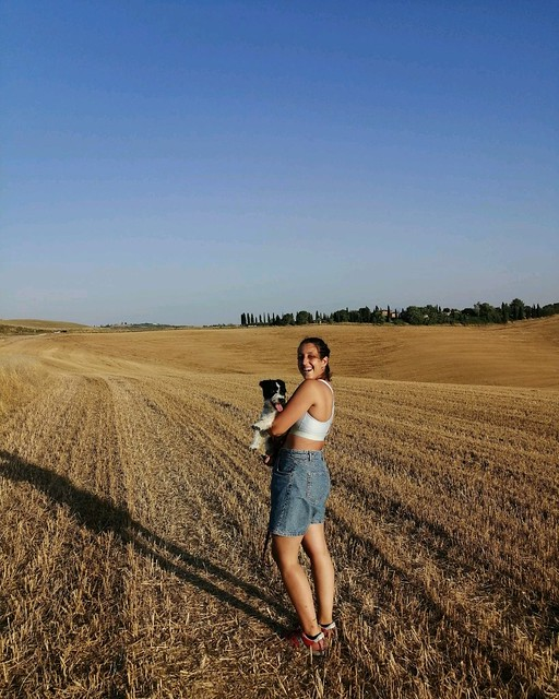 Happy morning from the fields 🌾 #BorghettoMontalcino @azienda_agricola_leonina