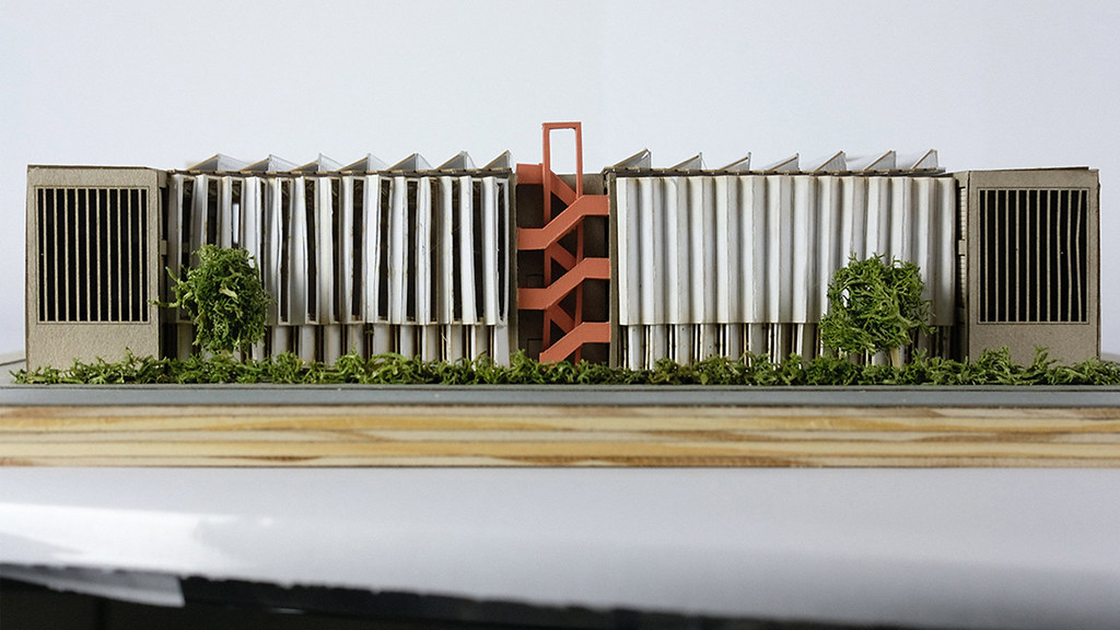 Model of the proposed building.