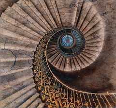Textured staircase