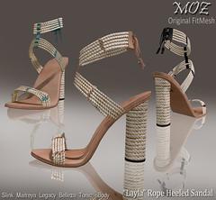 """MOZ """"Layla"""" Rope Heeled Sandal"""