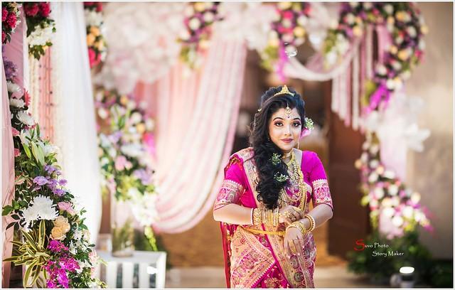 Bengali Bride Beautiful || Bride Sucharita On Her Reception Day