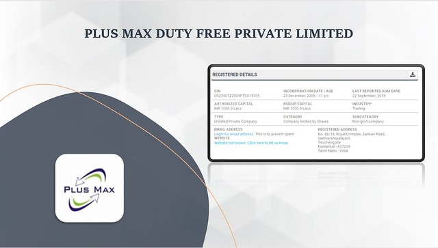 PLUS MAX DUTY FREE PRIVATE LIMITED