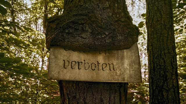 Verboten - Prohibited