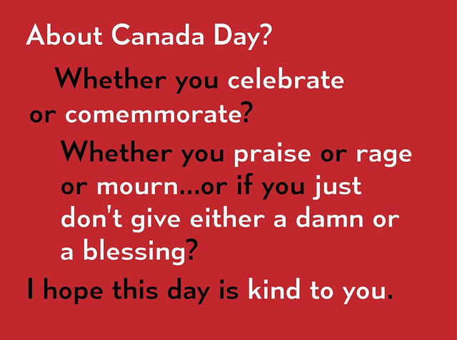 Canada Day, From Now Onward
