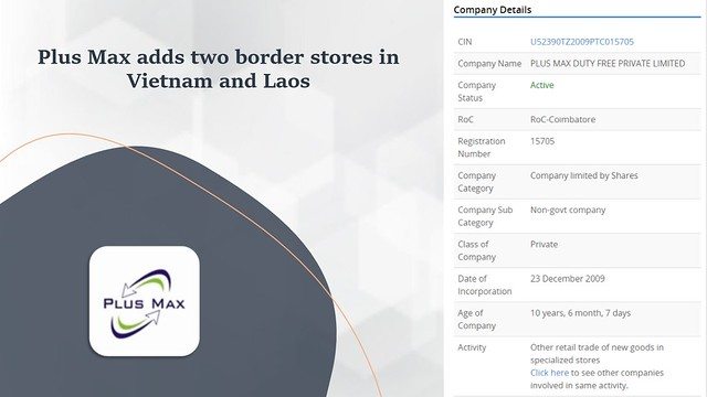 Plus Max adds two border stores in Vietnam and Laos