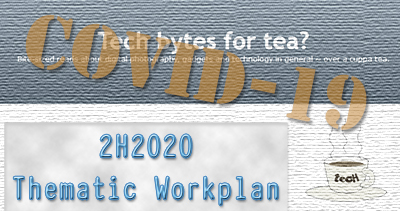 "Thematic Workplan 2H2020 - centred around the ""aftermath"" of COVID-19."