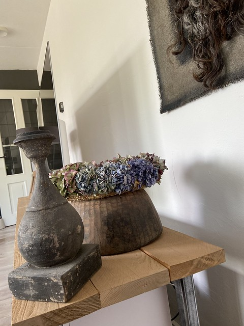 Nepalese pot hortensia krans kandelaar