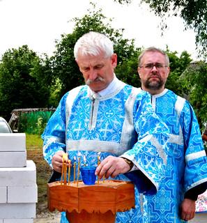 29.06.2020   Закладка камня в деревне Видони