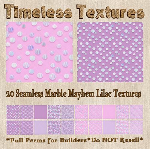 TT 20 Seamless Marble Mayhem Lilac Timeless Textures