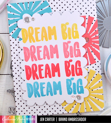 Jen Carter Dream Big Sunburst Sale Closeup