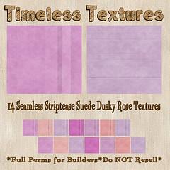 TT 14 Seamless Striptease Suede Dusky Rose Timeless Textures